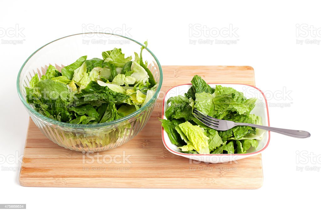 Bowl of Salad with Fork stock photo