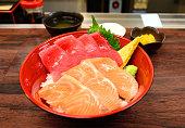 Bowl of Sashimi.
