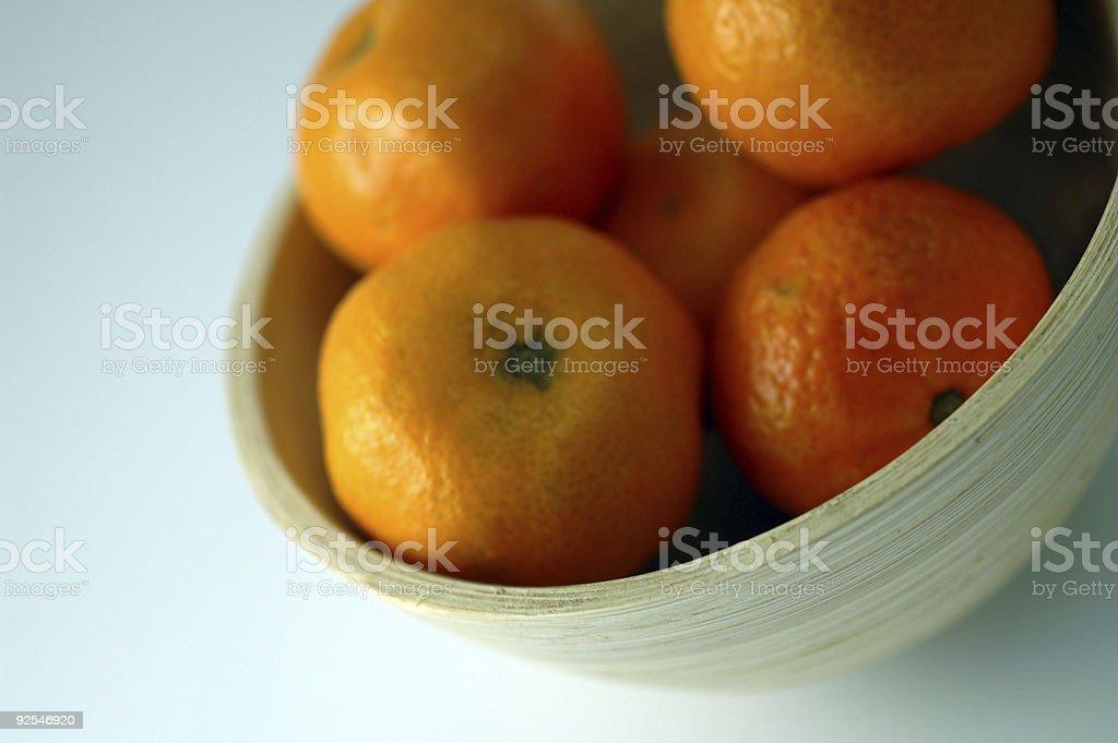 Bowl of Satsumas royalty-free stock photo
