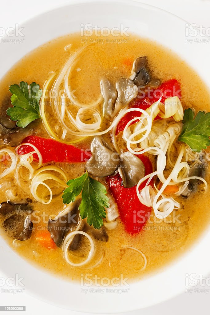Bowl of Soup royalty-free stock photo