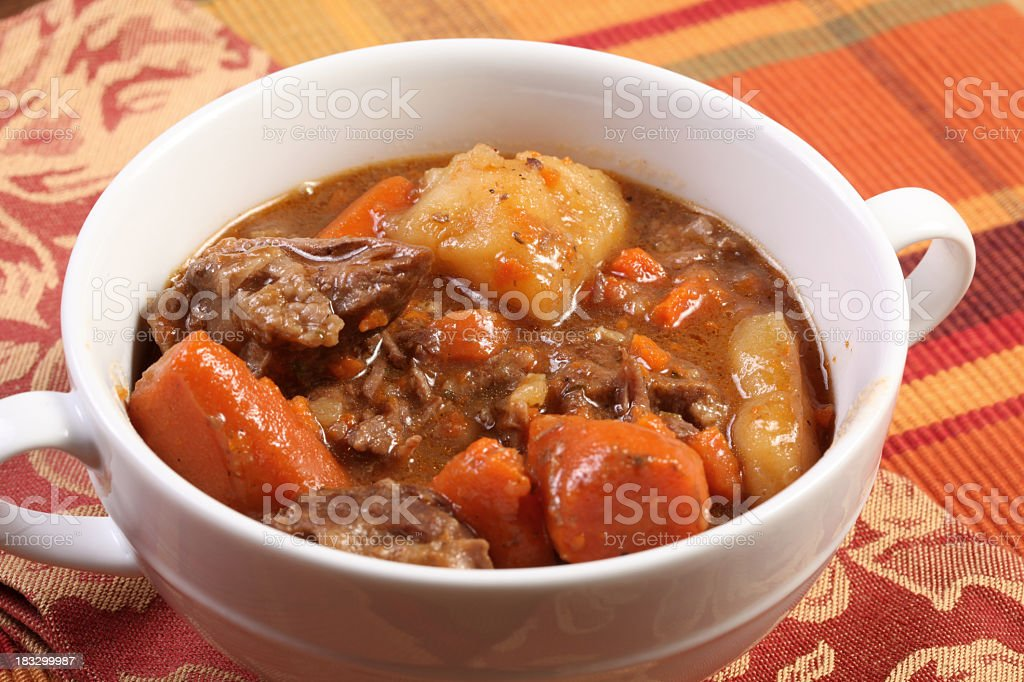 A bowl of stew of comfort food royalty-free stock photo