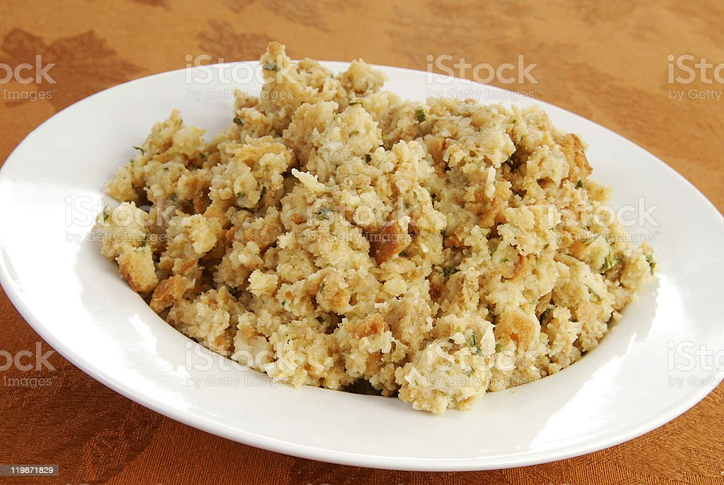 Bowl of stuffing royalty-free stock photo