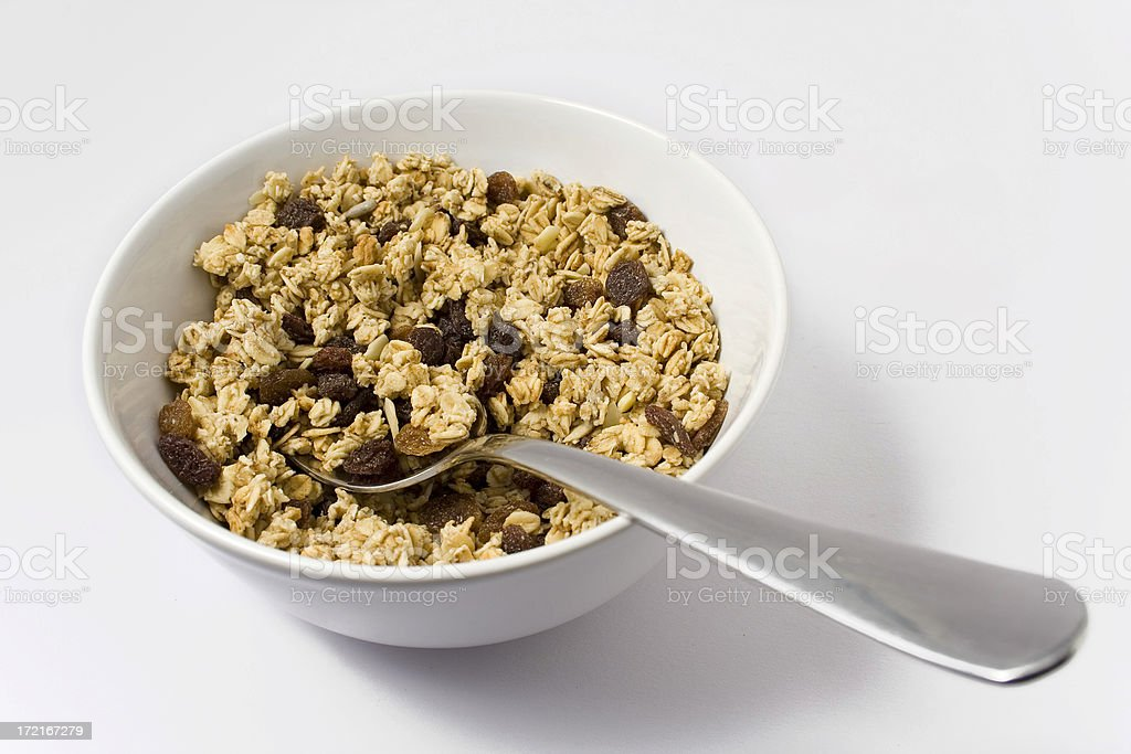 bowl of tasty cereal royalty-free stock photo
