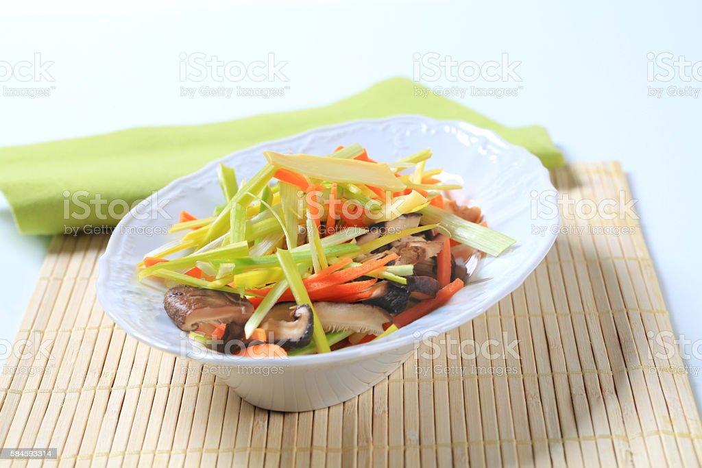 bowl of vegetable salad stock photo