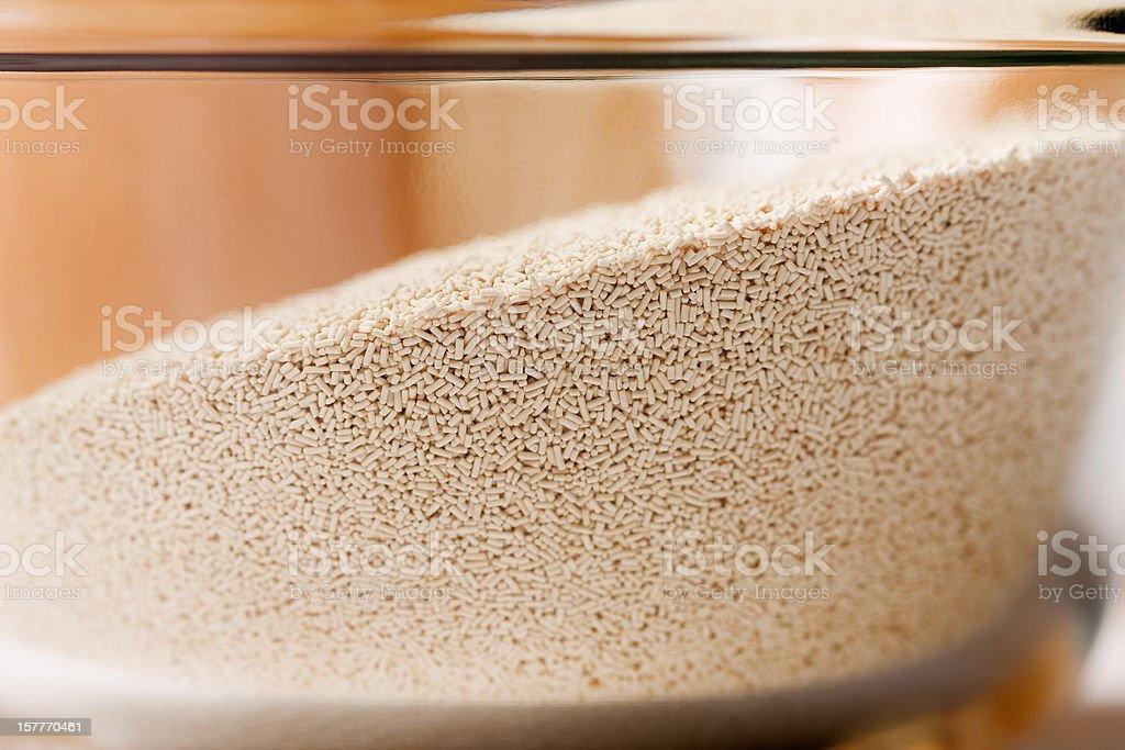 Bowl of Yeast stock photo