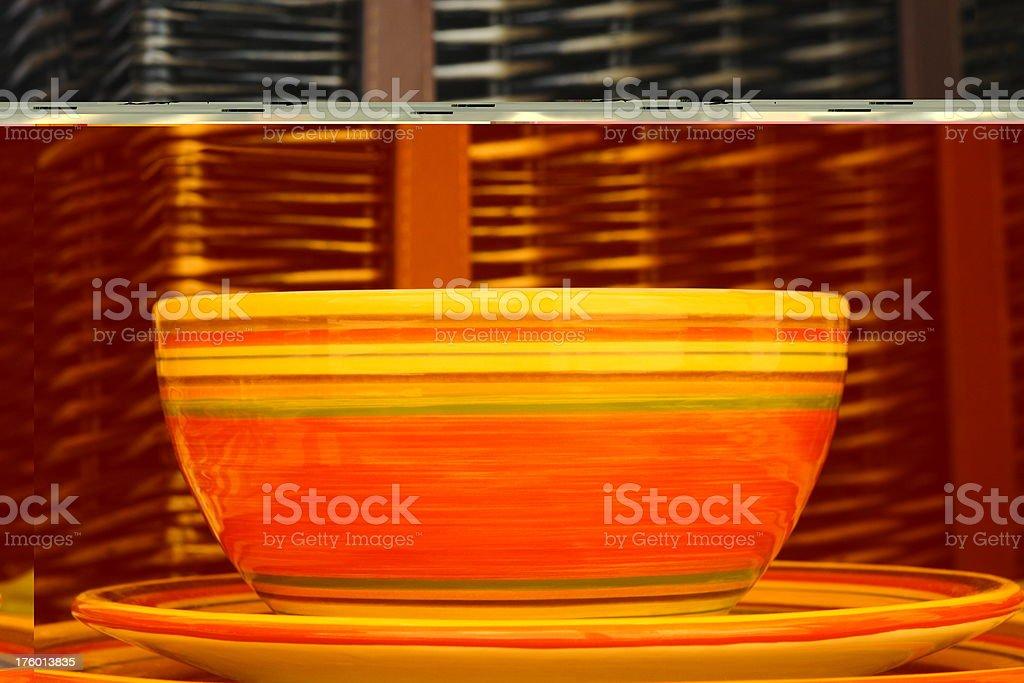 Bowl Plate Picnic Basket Dishware royalty-free stock photo
