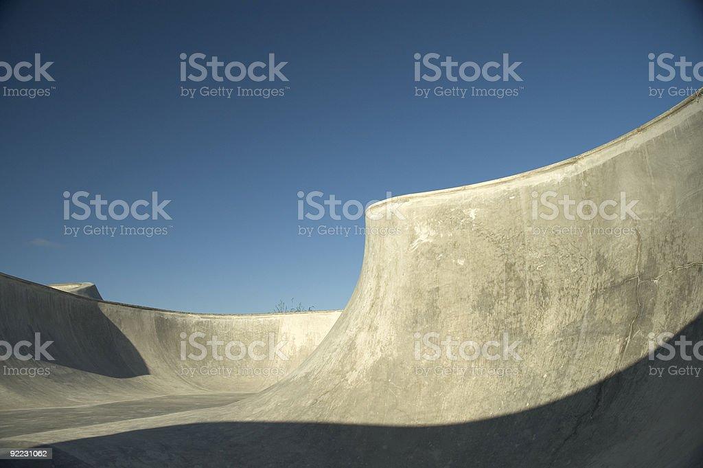 Bowl - Skatepark royalty-free stock photo