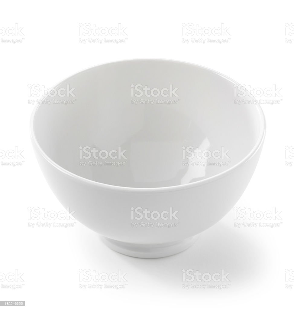 Bowl white and empty stock photo