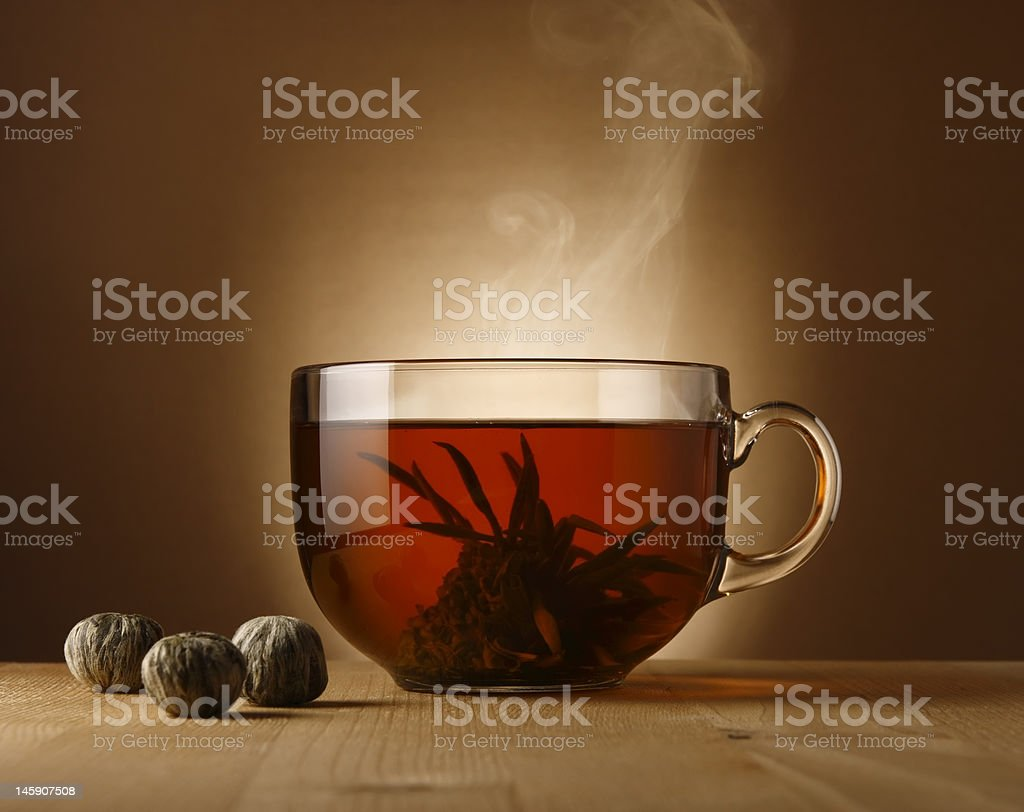 Bowl with Chinese tea royalty-free stock photo