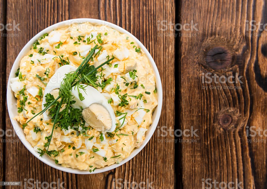 Bowl with Egg Salad stock photo