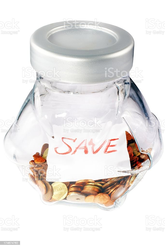 bowl with european change royalty-free stock photo