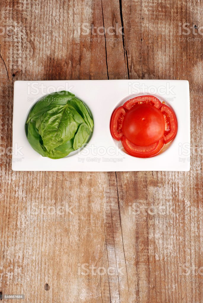 Bowl with food tricolor stock photo