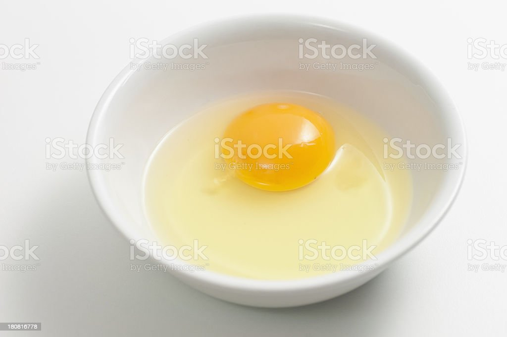 Bowl with fresh egg royalty-free stock photo
