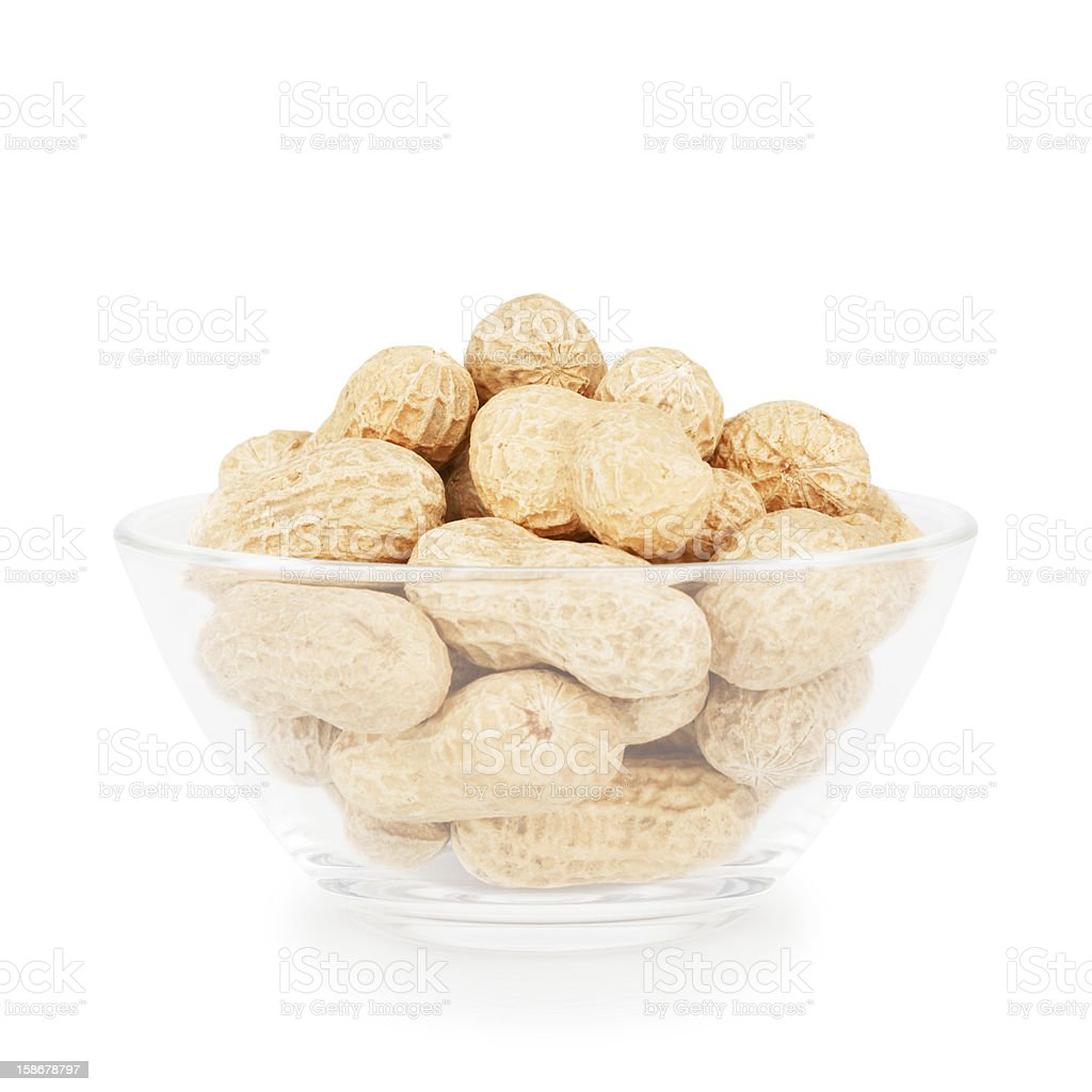 Bowl With Peanuts royalty-free stock photo