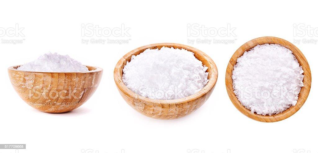 bowl with salt stock photo