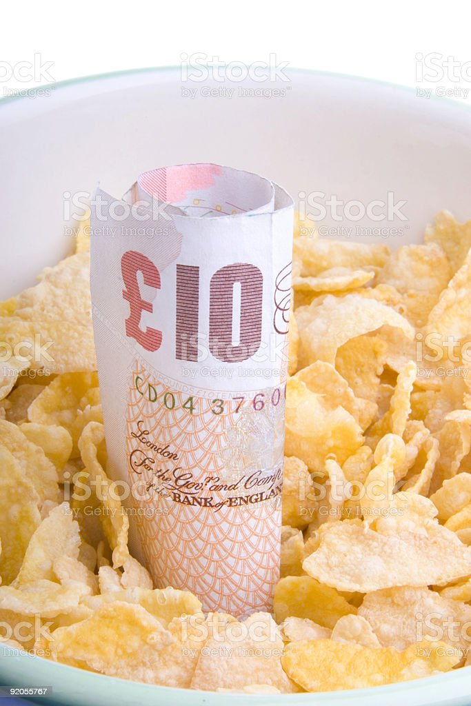 Bowl with ten royalty-free stock photo