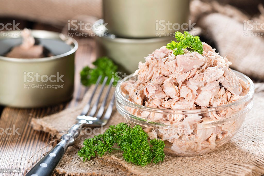 Bowl with Tuna stock photo