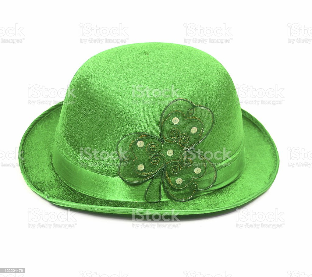 Bowler Green Hat 3 for St. Patrick's Day royalty-free stock photo