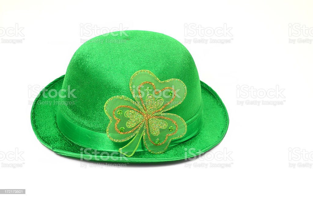 Bowler Green Hat for St. Patrick's Day royalty-free stock photo