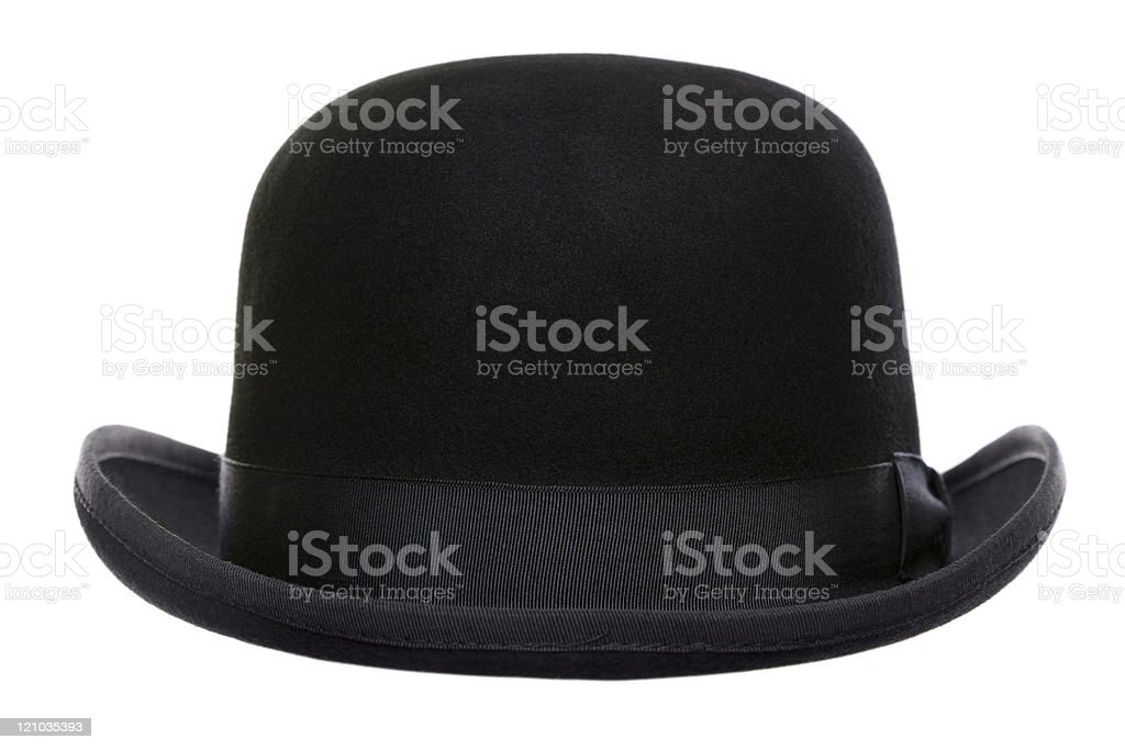 Bowler hat cut out stock photo