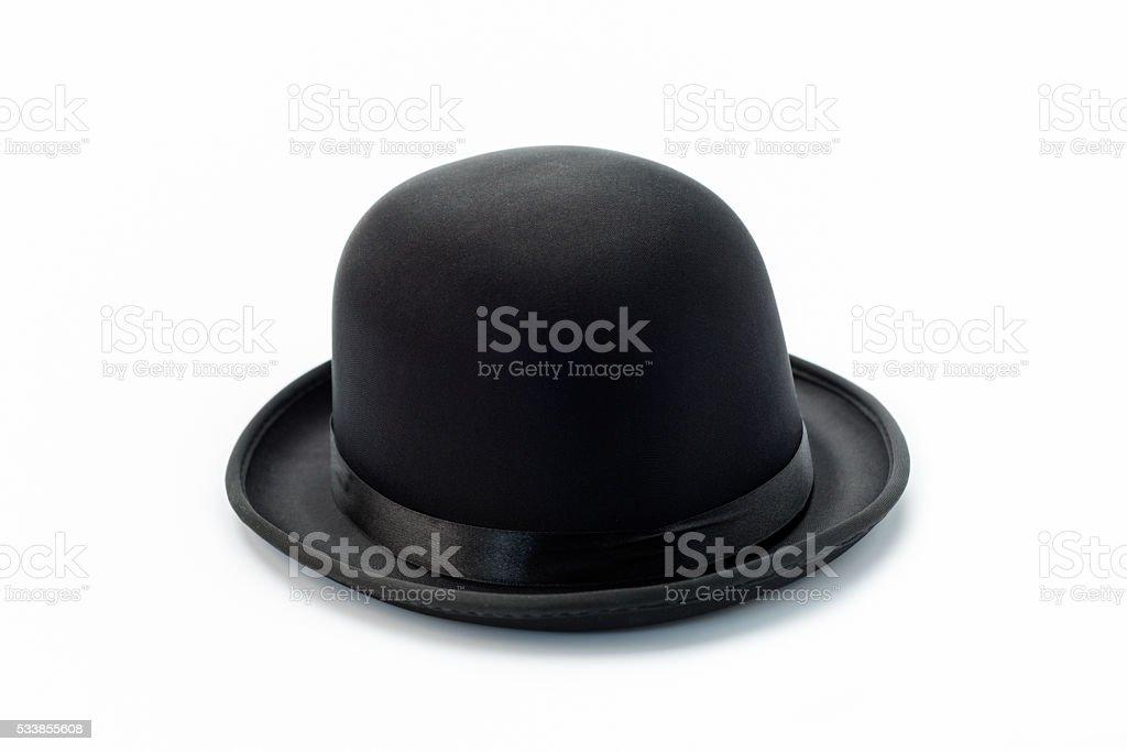 Bowler hat on white stock photo