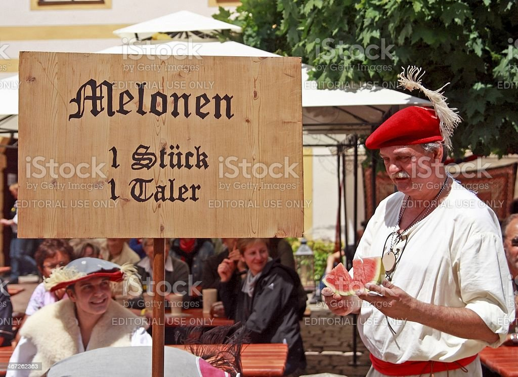 Bowler seller stock photo