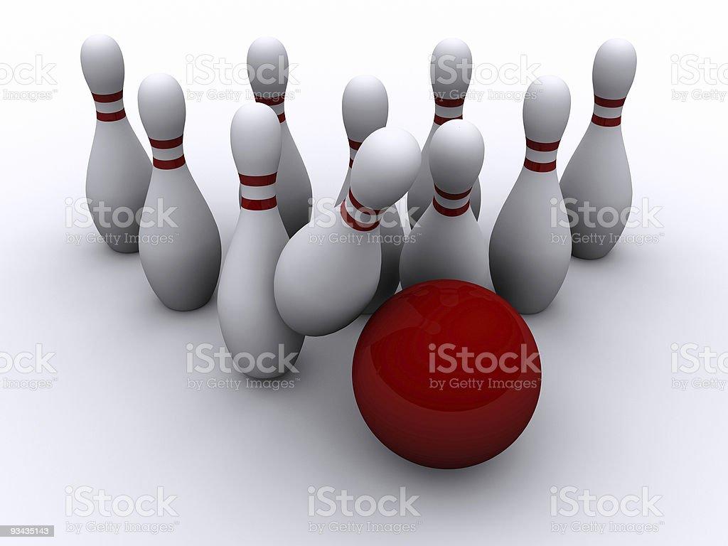 Bowling 3 royalty-free stock photo