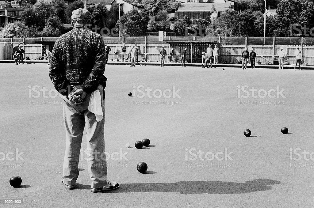 bowling alone royalty-free stock photo