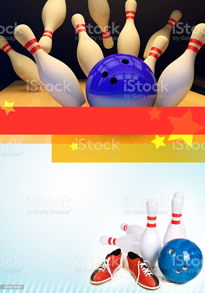 Bowling background stock photo