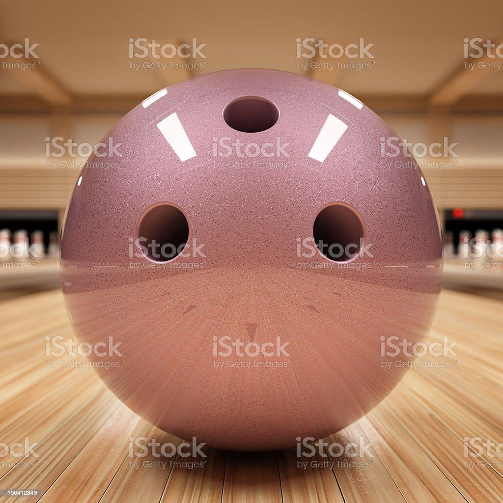 Bowling ball royalty-free stock photo