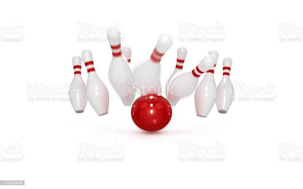 Bowling Concept: Strike stock photo