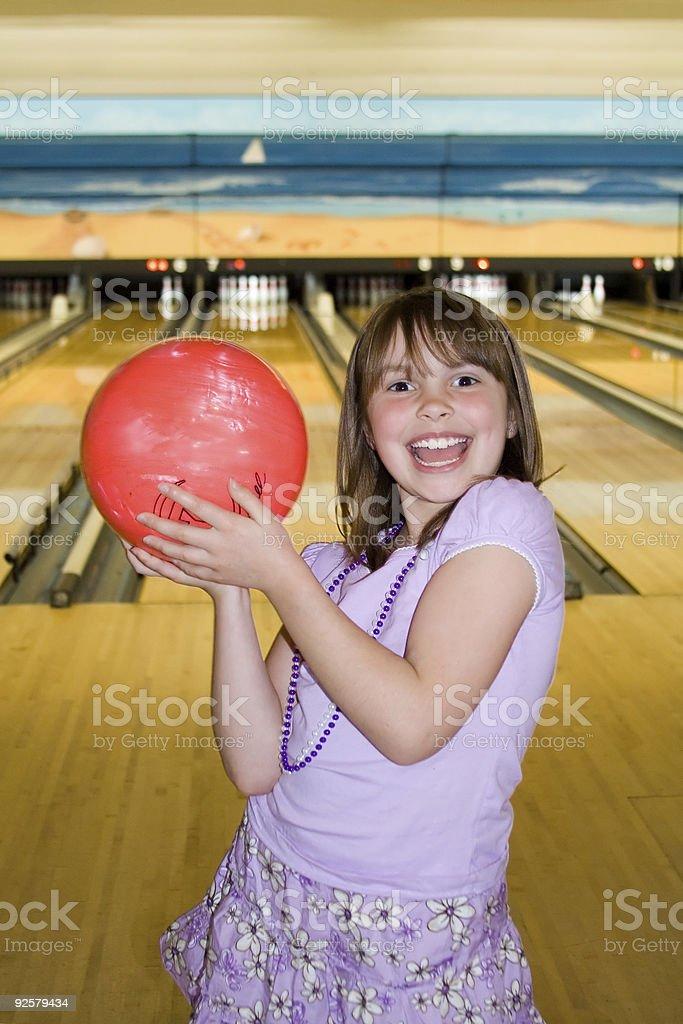 Bowling Girl royalty-free stock photo