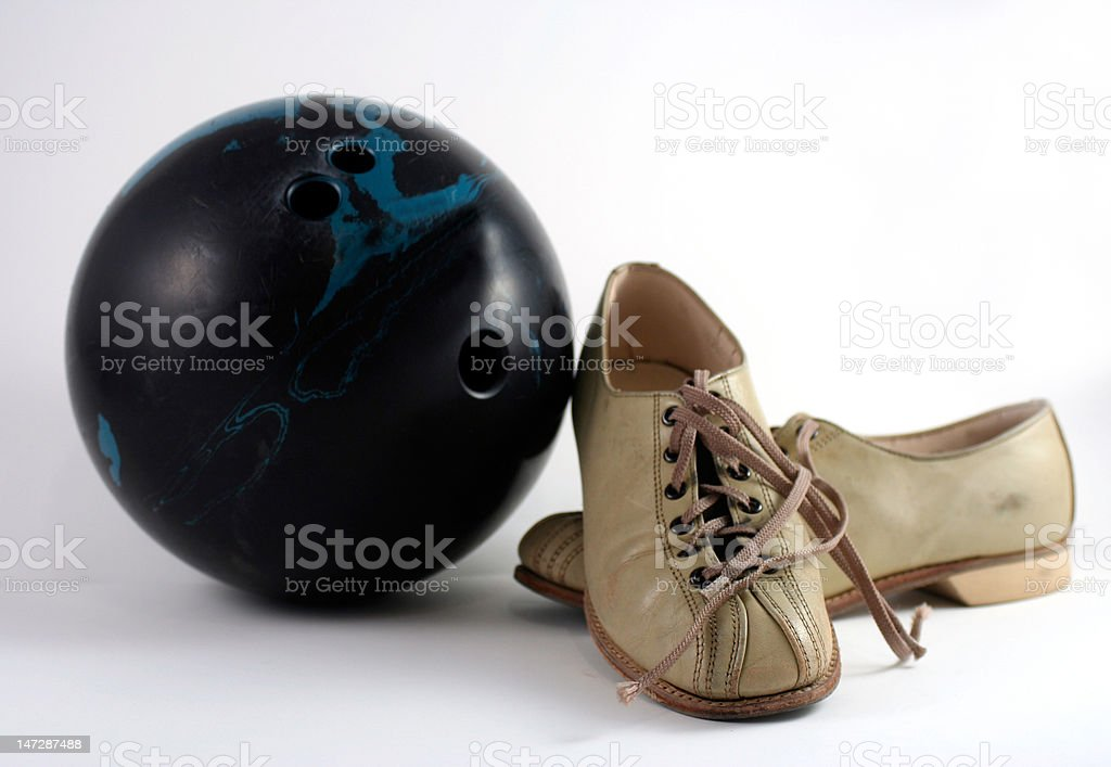 Bowling in the Sixties stock photo