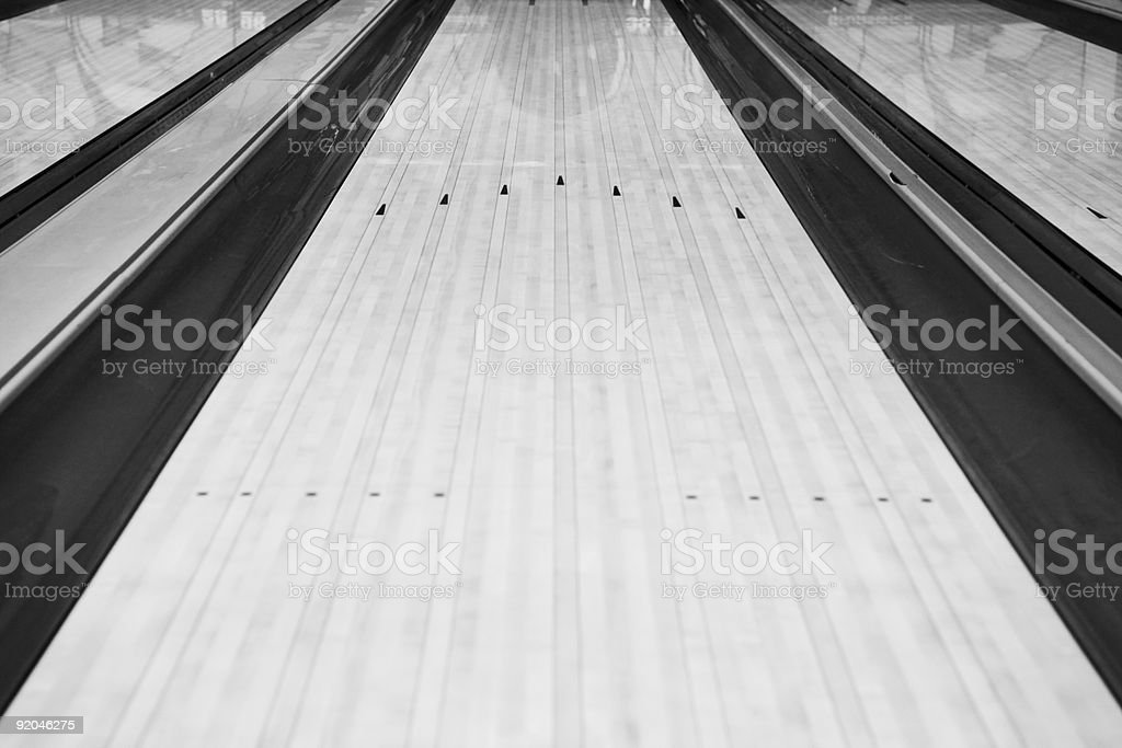 Bowling Lane royalty-free stock photo