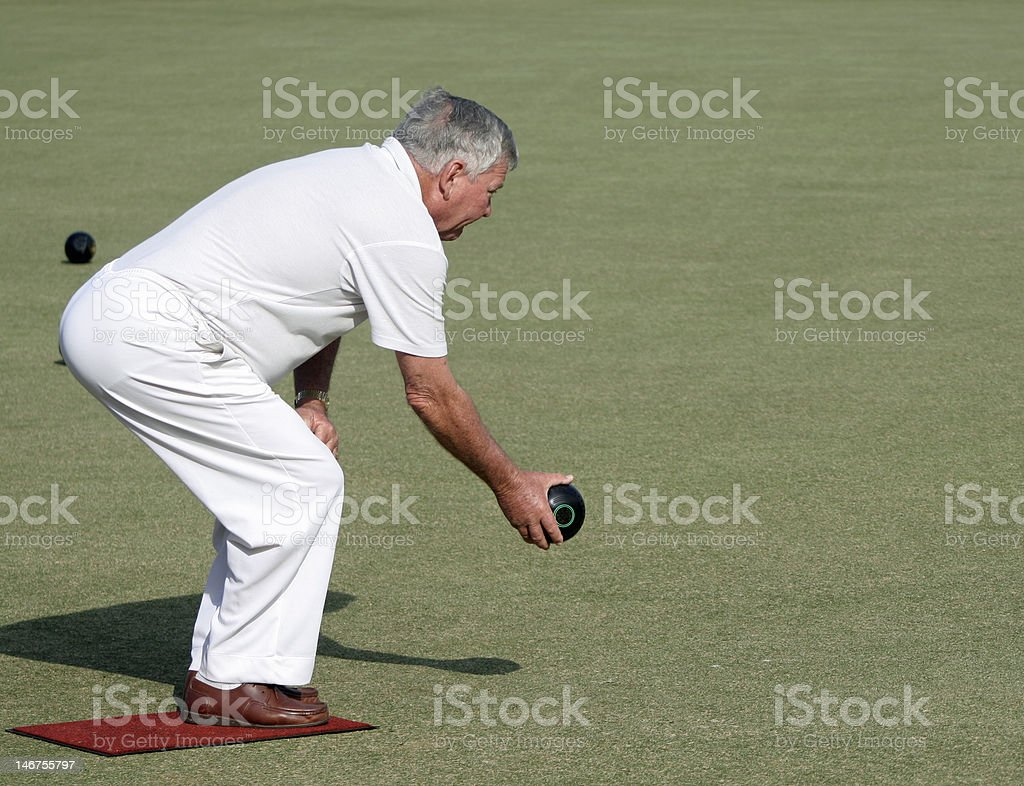 Bowling perfection stock photo