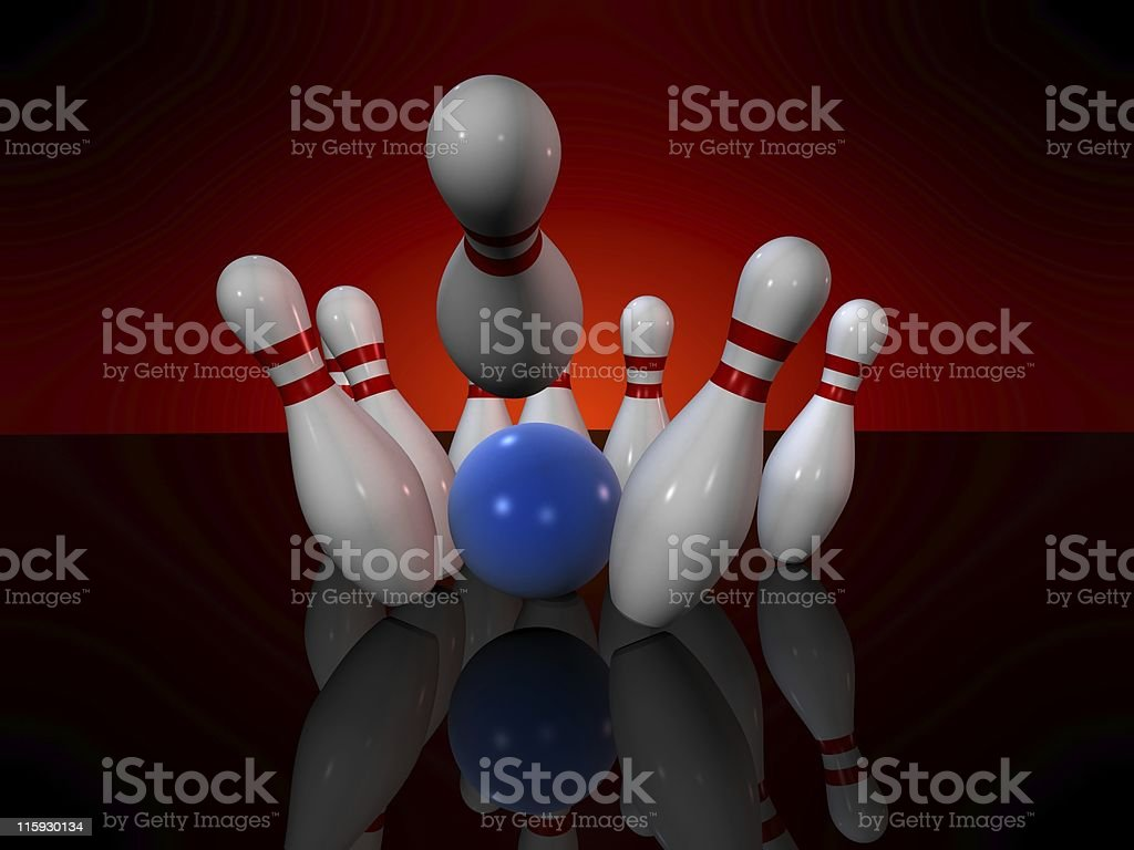 bowling royalty-free stock photo