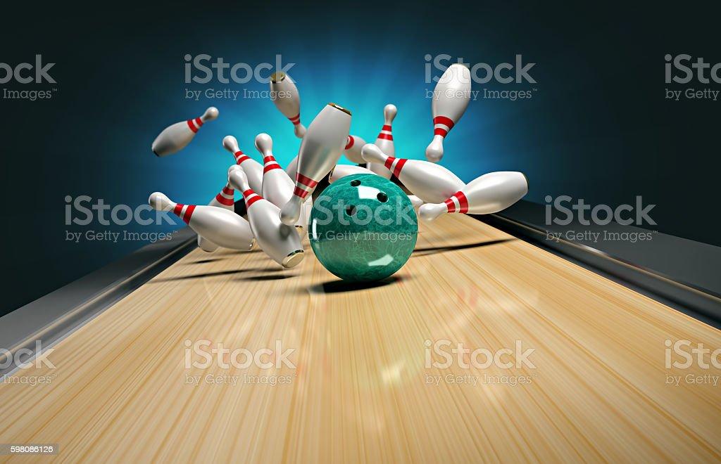 Bowling. stock photo