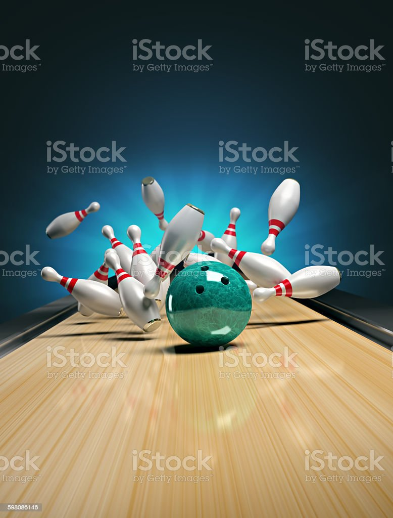Bowling. stock photo