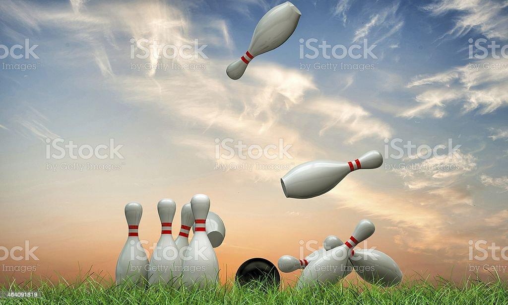 bowling pins royalty-free stock photo