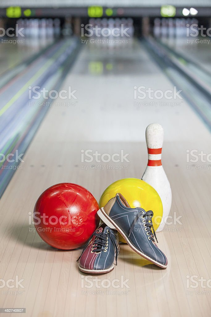 Bowling Shoe. stock photo