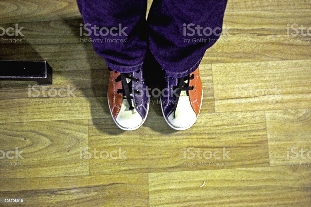 Bowling Shoe stock photo