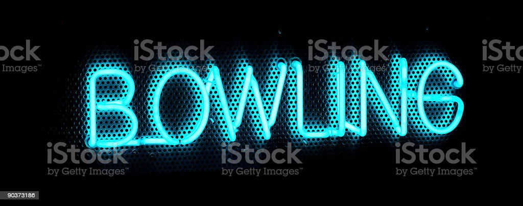 Bowling Sign royalty-free stock photo