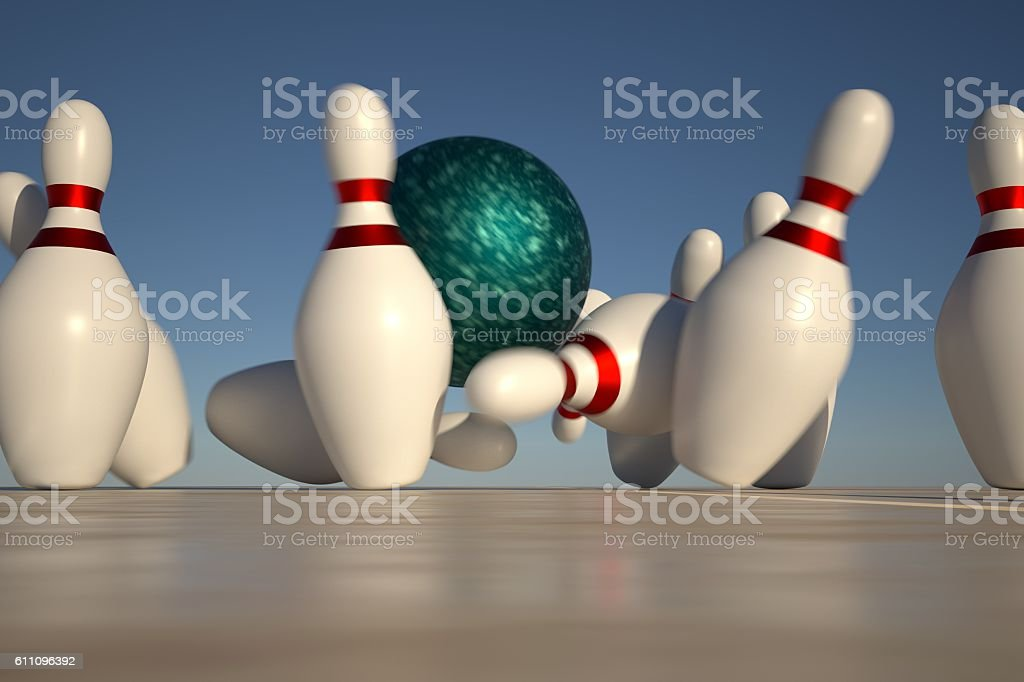 Bowling Strike royalty-free stock photo