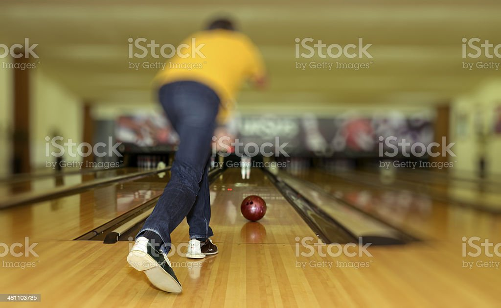 bowling time royalty-free stock photo