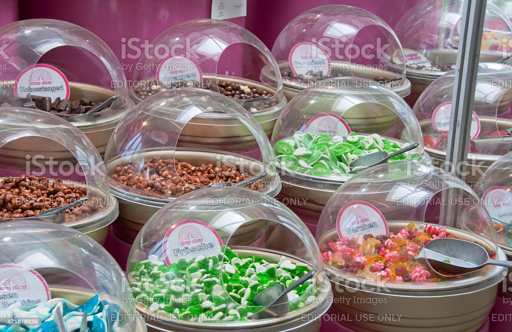 Bowls filled with Candies stock photo