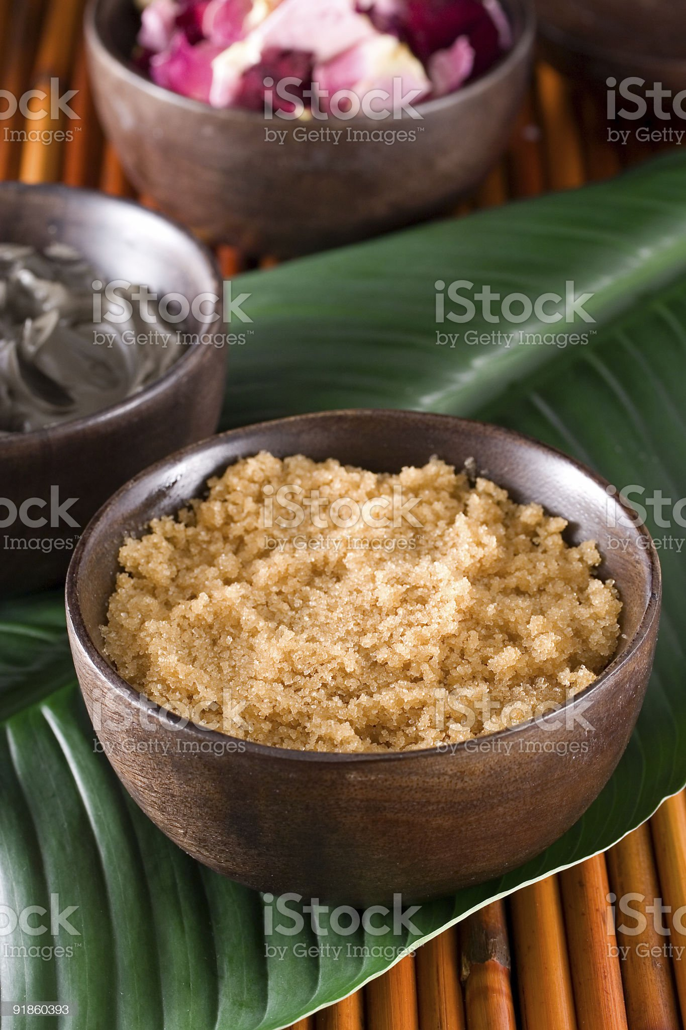 Bowls filled with random ingredients royalty-free stock photo