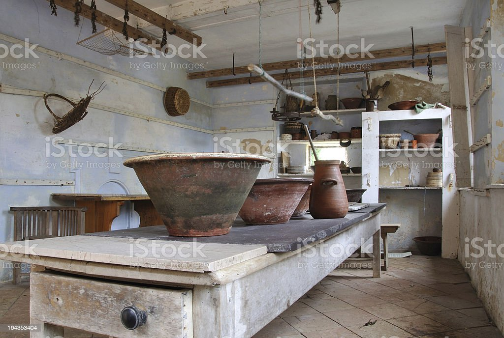 Bowls in the dairy stock photo