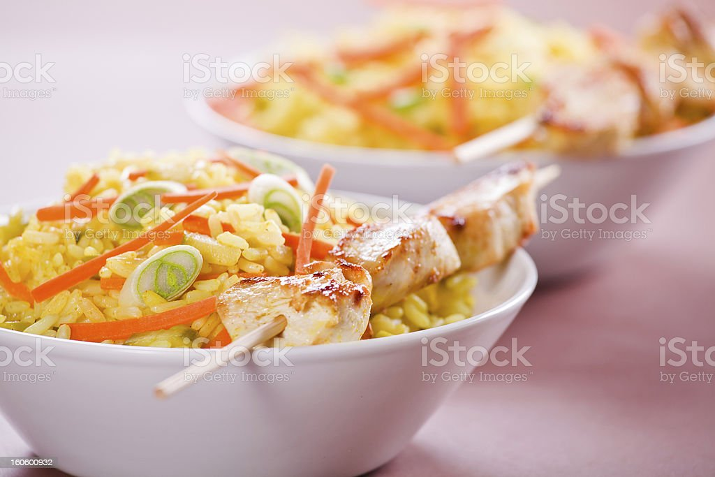Bowls Of Chicken Curry royalty-free stock photo