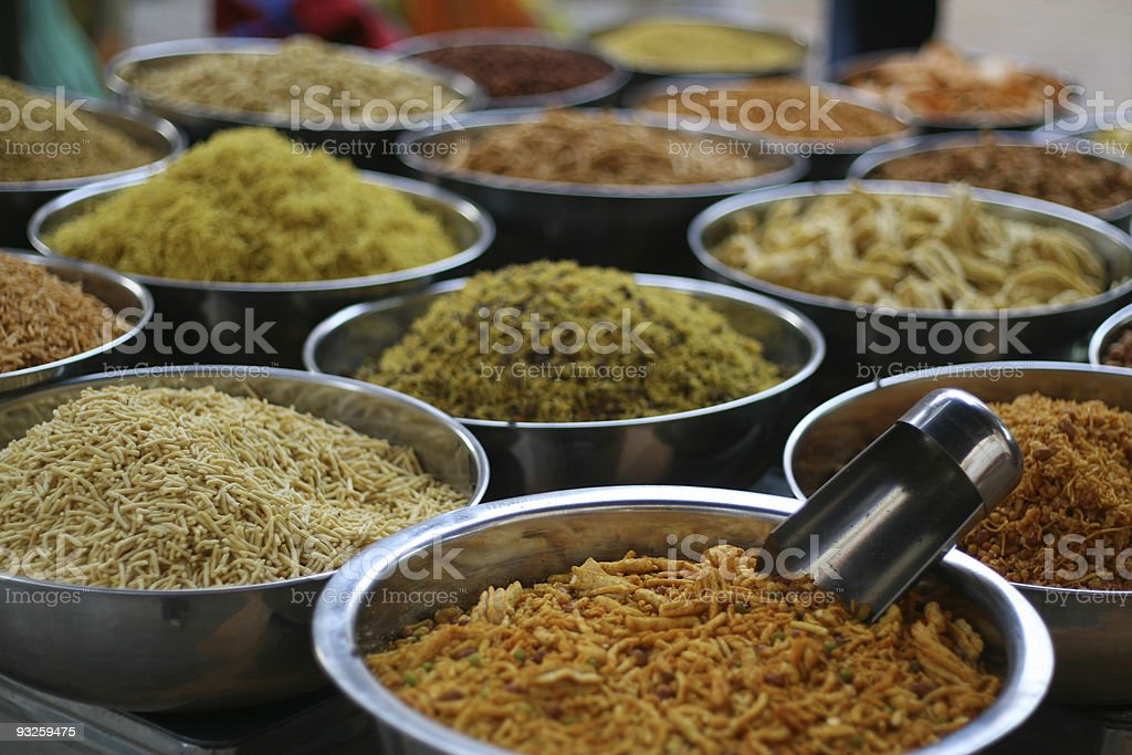Bowls of Indian food royalty-free stock photo