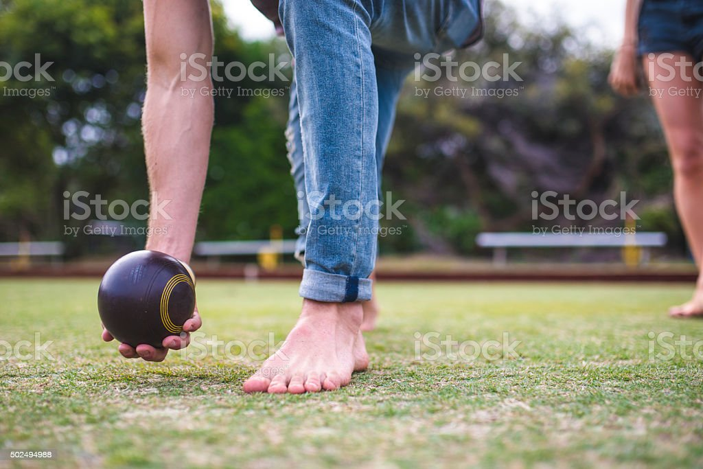 Bowls outdoors stock photo